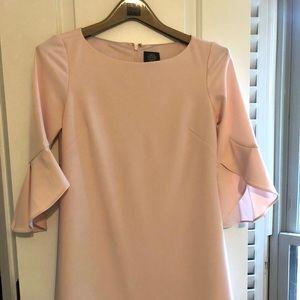 Vince Camuto pink flair sleeve dress